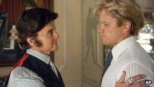 Michael Douglas and Matt Damon in Behind the Candelabra
