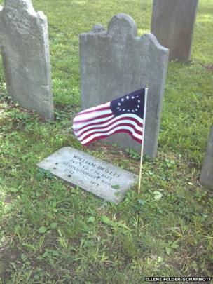 Ellene Felder-Scharnott's photo shows a grave at Concord School and Upper Burial Ground in Philadelphia on Memorial Day in the US
