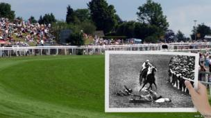 The site of the collision between Emily Davison and Anmer at Tattenham Corner. Photo by Ruby.W.Flickr
