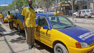 Taxi drivers in Mogadishu, Somalia - Wednesday 29 May 2013