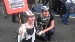 Anti-badger cull supporters. Photo: Paul Hornsby