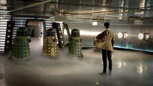 Matt Smith's Doctor and Daleks
