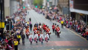 Tribute to Drummer Lee Rigby in Manchester Day Parade