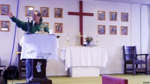 Gilbert Oxereok preaching