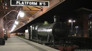 Locomotive standing at Moor Street Station platform