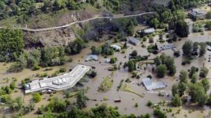Flooded Prague Zoo on 14 June 2013