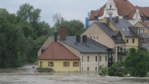 Flooded Regensburg. Photo: Freddie Swaine