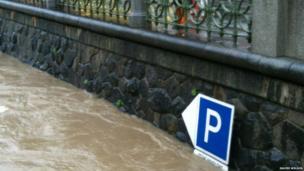 Prague floods. Photo: Rauiri Wilson