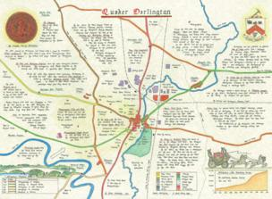 Map of Darlington