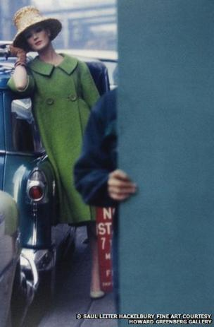 Fashion photograph for Harper's Bazaar, 1959, by Saul Leiter