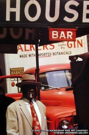 Harlem, 1960, New York by Saul Leiter
