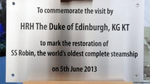 A plaque was unveiled by the Duke of Edinburgh during the visit