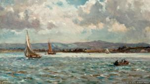Purbeck from Poole Harbour, Dorset