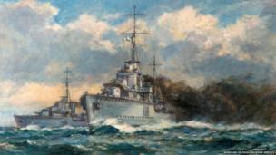 A Smokescreen: a naval engagement
