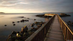 The Wooden Bridge, Ballycastle - by Calvin Harlow