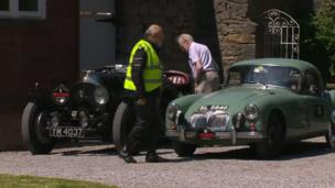 Cars at Ruthin Castle