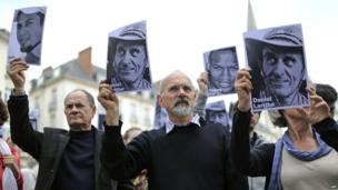 A vigil for French hostages held by AQIM in Nantes, France - Saturday 1 June 2013