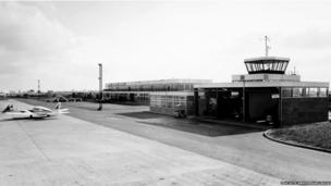Control tower East Midlands Airport, 1965