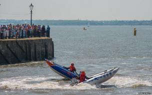 Speedboats at the Mersey River Festival