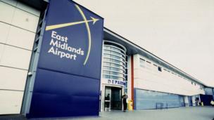 East Midlands Airport departure building, 1998