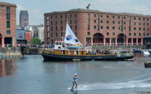 Cable wakeboarding at Mersey River Festival