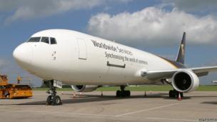 Cargo plane at EMA