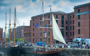 Tall ships at Mersey River Festival