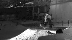 Tomski Robinson at the English Slopestyle Championships in Trafford