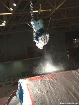 Anthony Smith at the English Slopestyle Championships in Trafford