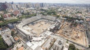 Joaquim Americo stadium, (Arena da Baixada), Curitiba in the southern state of Parana, Brazil