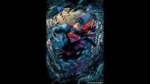 Superman comic artwork for the cover of Superman Unchained - The New 52