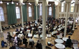 The Halle orchestra in performance at Halle St Peter's
