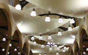 Lighting at Halle St Peter's