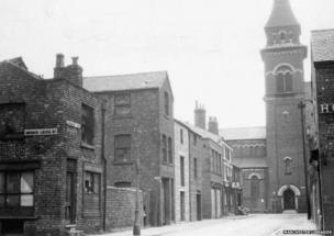 St Peter's Church in Ancoats in 1962