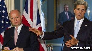 William Hague, John Kerry