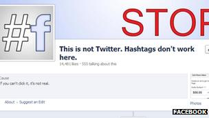 Facebook follows Twitter by adding clickable hashtags - BBC News