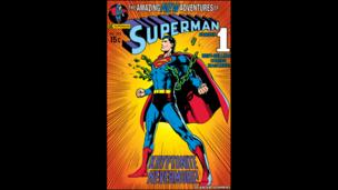 Superman comic book cover