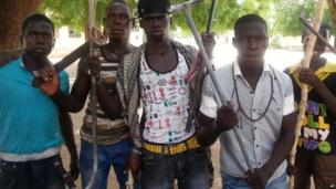 Vigilante members of Maiduguiri's Civilian JTF group in Nigeria - Tuesday 11 June 2013