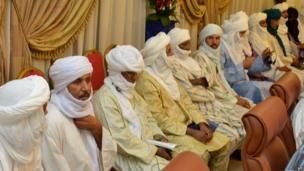 Malian Tuareg leaders in Ouagadougou, Burkina Faso - Friday 7 June 2013
