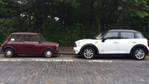 Old and new Minis