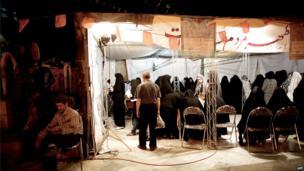 Polling station in Tajrish square in northern Tehran. 14 June 2013