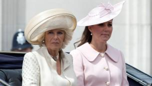 The Duchesses of Cornwall and Cambridge