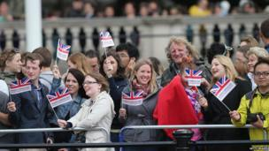 Crowd watching Trooping the Colour