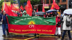 Communist Party of Ireland (CPI) banner