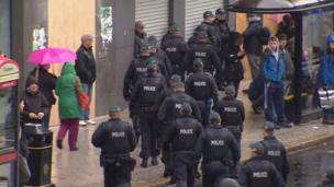 There was an unprecedented security operation in the city centre during the anti-G8 protest