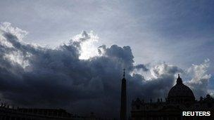 St Peter's Basilica at the Vatican (file)