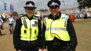 Sgt Liz Barton and PC Matt Campbell