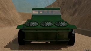'Jumping Jeep' 4x4 vehicle