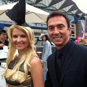 Bruno Tonioli and friend at Royal Ascot 2013