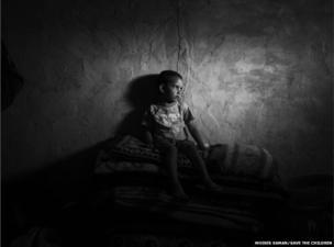 10-year-old Abd-El Rahman, a Syrian refugee in the Bekaa Valley, Lebanon